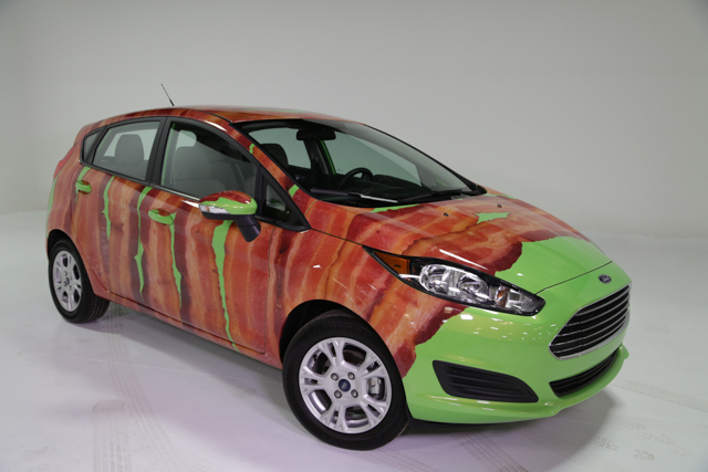 Ford wraps a Fiesta … in bacon