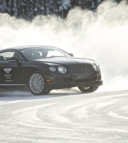 Flying Spur joins Bentley ice driving experience